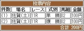 20161022 佐賀11R 錦秋特別 B コスモポッポ