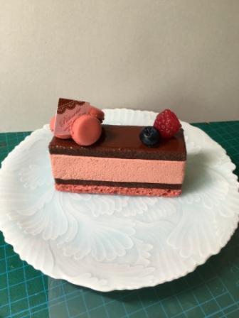 マカロンのショートケーキ
