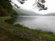 雨が降り始めた木崎湖