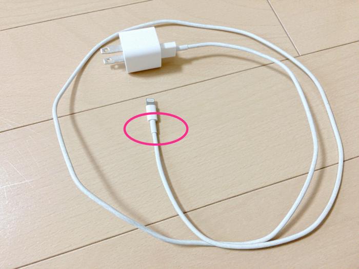 iPhoneLightningケーブル断線