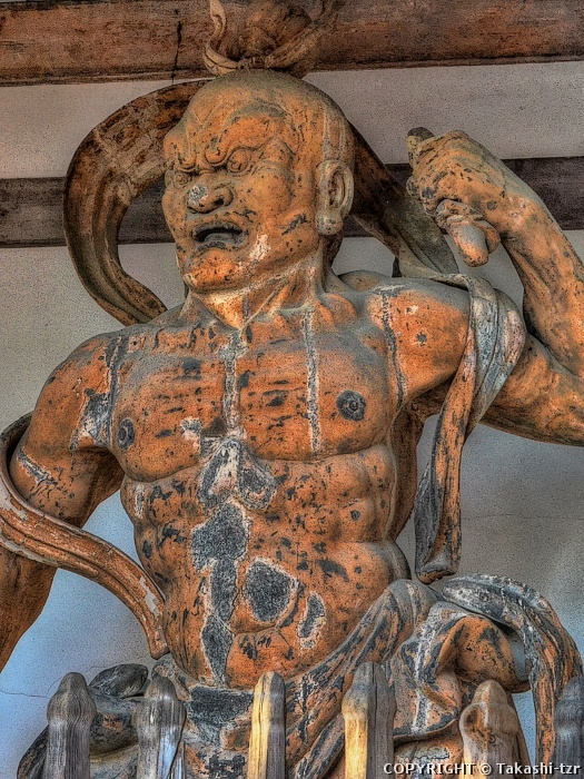 宝積寺木造金剛力士立像阿形像