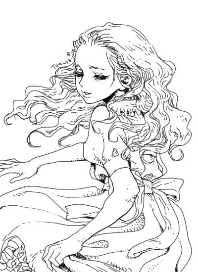 アリス線画