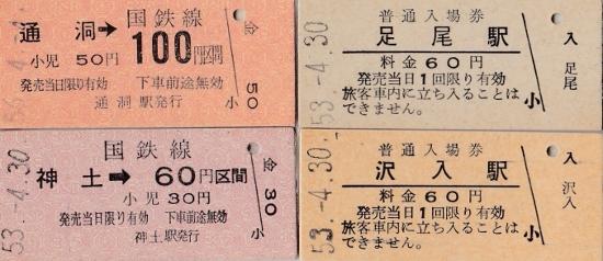 ㉑国鉄切符