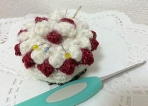 ケーキのピンクッション
