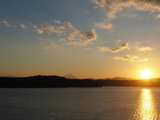 20161103・夕焼け狭山湖空07