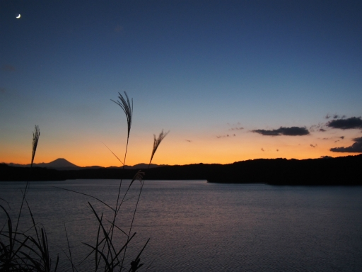 20161103・夕焼け狭山湖空14