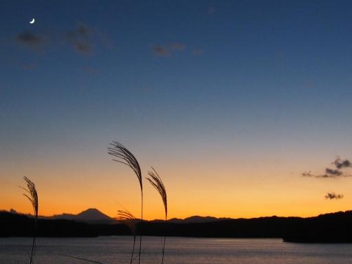 20161103・夕焼け狭山湖空13