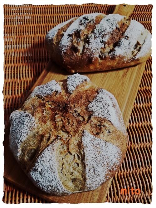 20161102_くるみ&ヘーゼルナッツのライ麦パン1-1