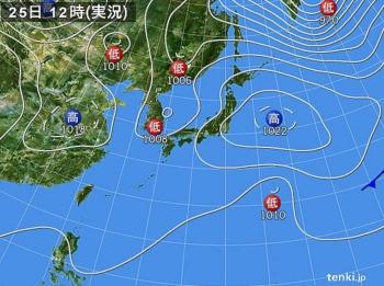 実況天気図2810251200