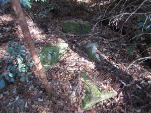 佐久良城/土橋付近の石積み