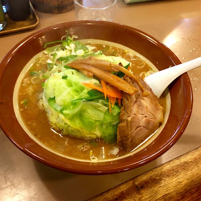 あたりばちラーメン@宇都宮市宿郷 みそラーメン+野菜