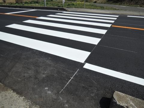 子供がダンプに事故に遭ってしまった青田交差点フルーツライン②工事完了