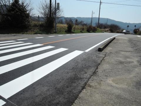 子供がダンプに事故に遭ってしまった青田交差点フルーツライン④工事完了