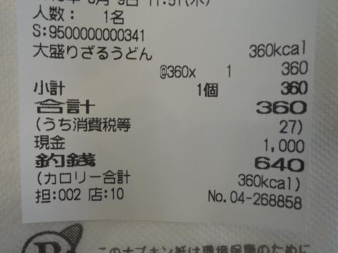 県庁ひばり「大ざるうどん」360円 ⑤