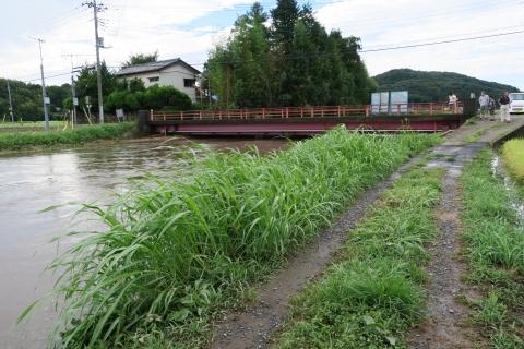 台風7号の恋瀬川。考案寺橋(片野地区)⑪