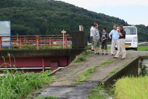 台風7号の恋瀬川。考案寺橋(片野地区)⑬