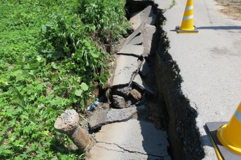 台風7号被害。東大橋(焼鳥たまり前)⑥