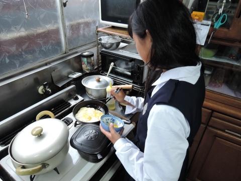 娘が朝食を作ってくれました。①