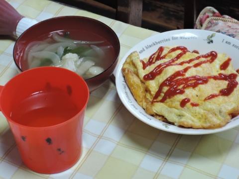 娘が朝食を作ってくれました。⑤