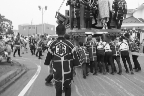石岡の祭り「てこ切り」 ①