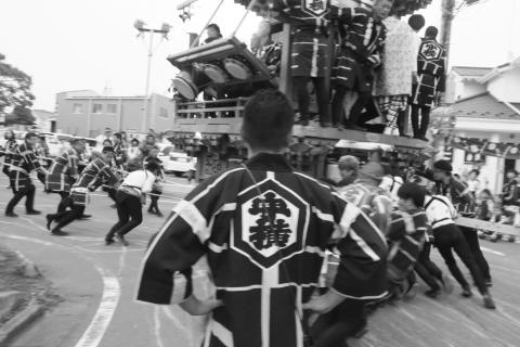 石岡の祭り「てこ切り」 ②