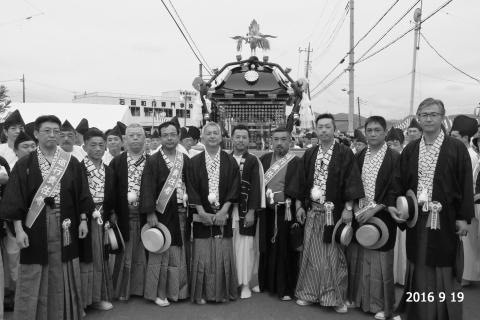 平成28年常陸國總社宮例大祭「還幸祭」神輿役員①2