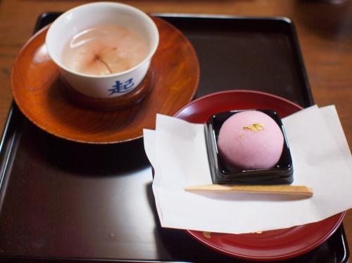 500桜茶と御饅頭160424002