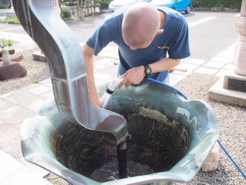 500水受けの掃除160503010