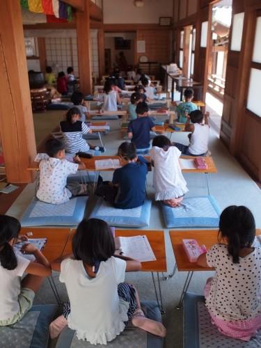 500寺子屋体験 自習時間160729