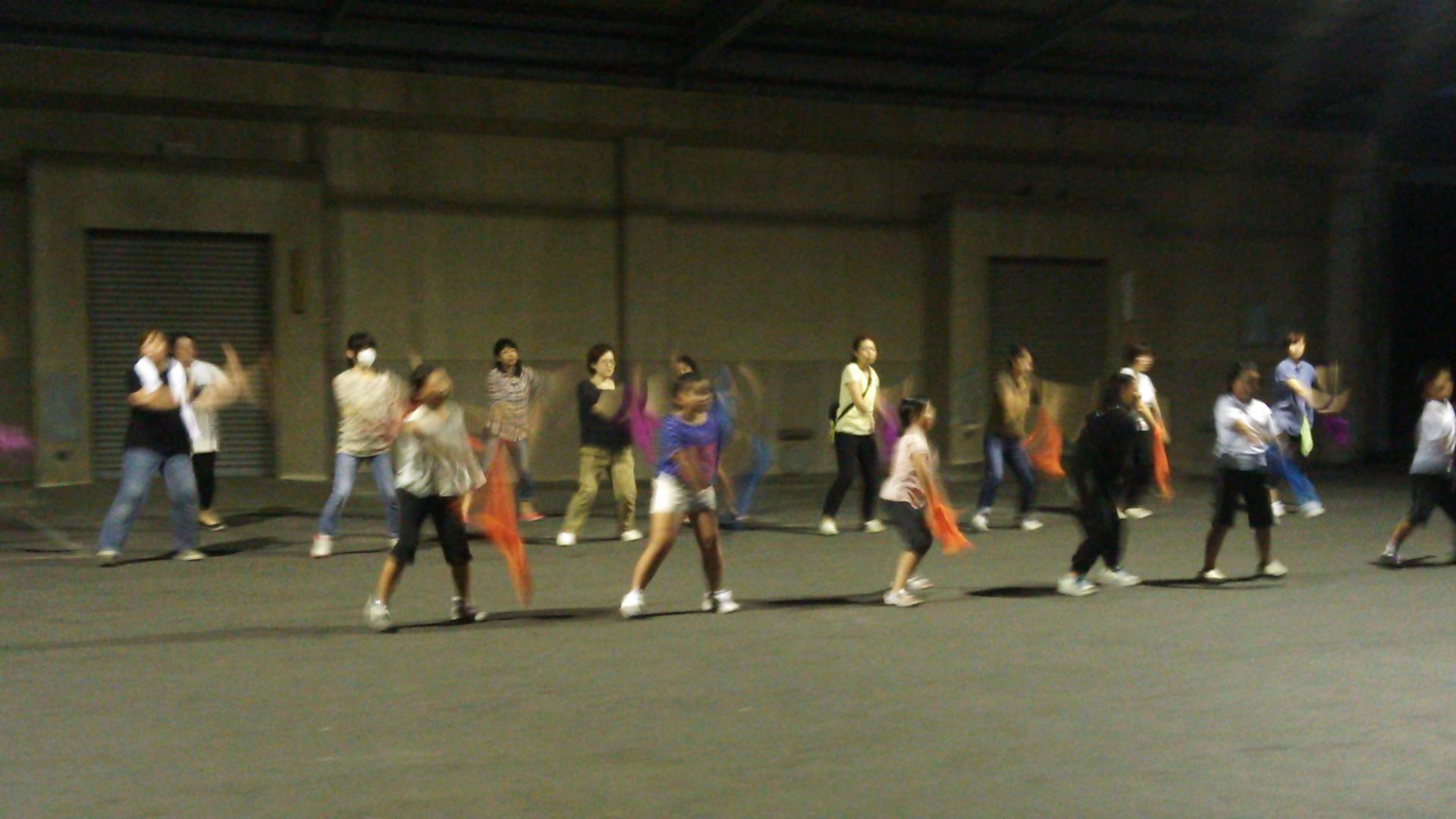 踊りの練習①