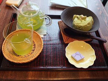 19冷し煎茶&抹茶アイス0617