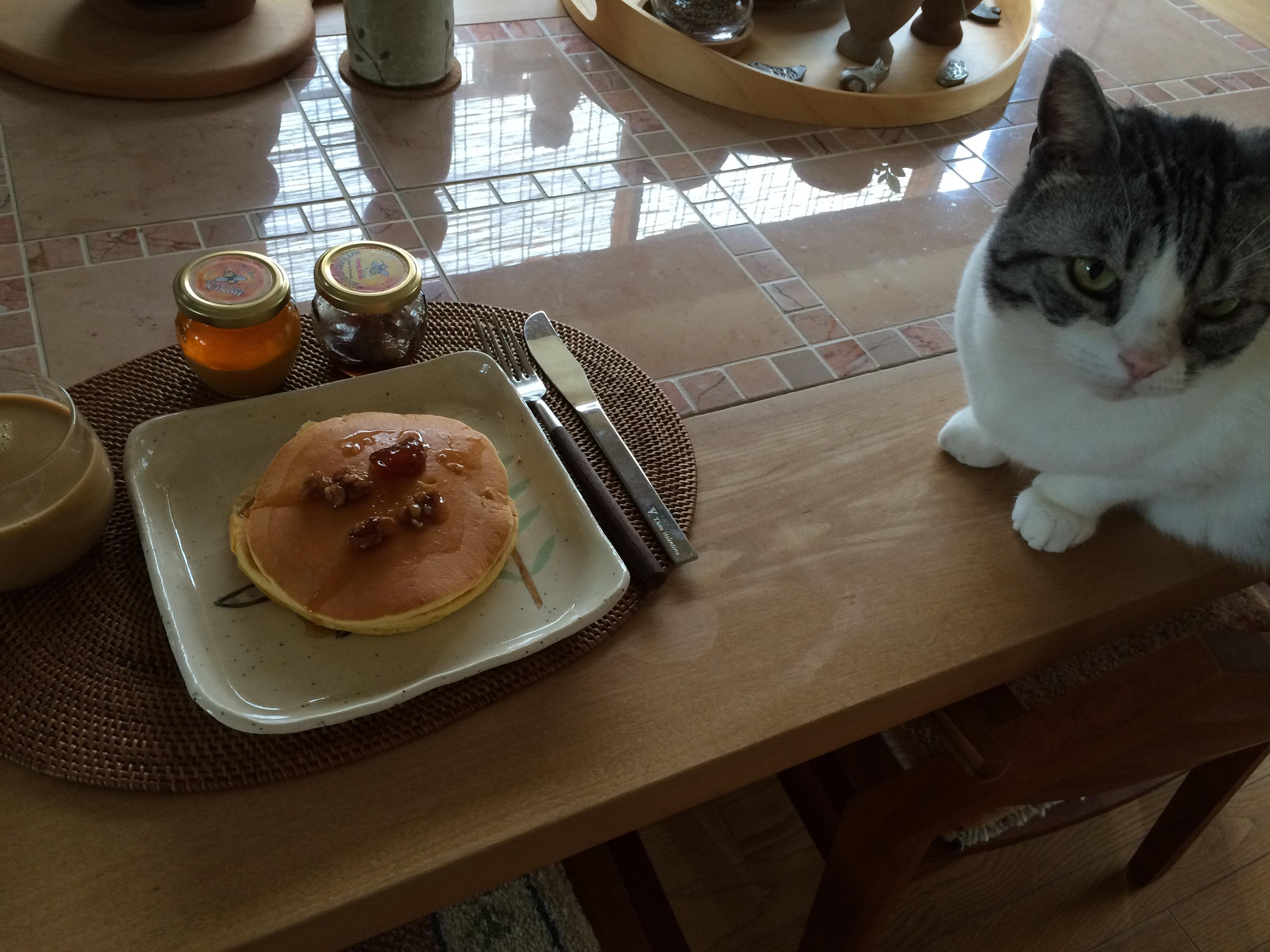 パンケーキとミント