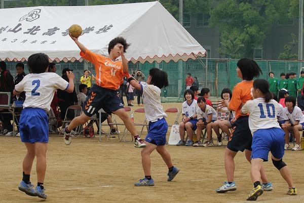 高校総体中予地区予選女子決勝 松山中央-松山北 160424 02