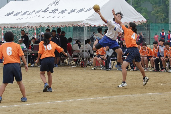 高校総体中予地区予選女子決勝 松山中央-松山北 160424 05
