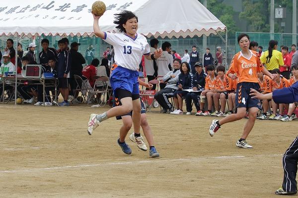高校総体中予地区予選女子決勝 松山中央-松山北 160424 07