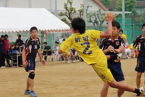 高校総体中予地区予選準決勝 新田-松東 160424 02