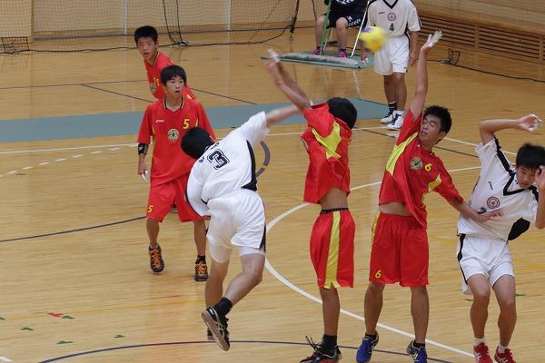 総体ハンド1回戦 城南-新田 160604 01