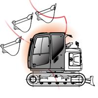 キャブ干渉防止装置の図