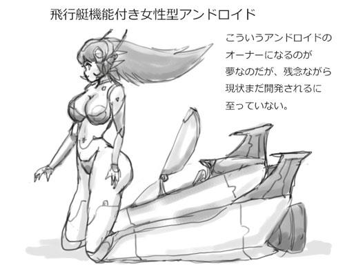 飛行艇機能付きアンドロイド