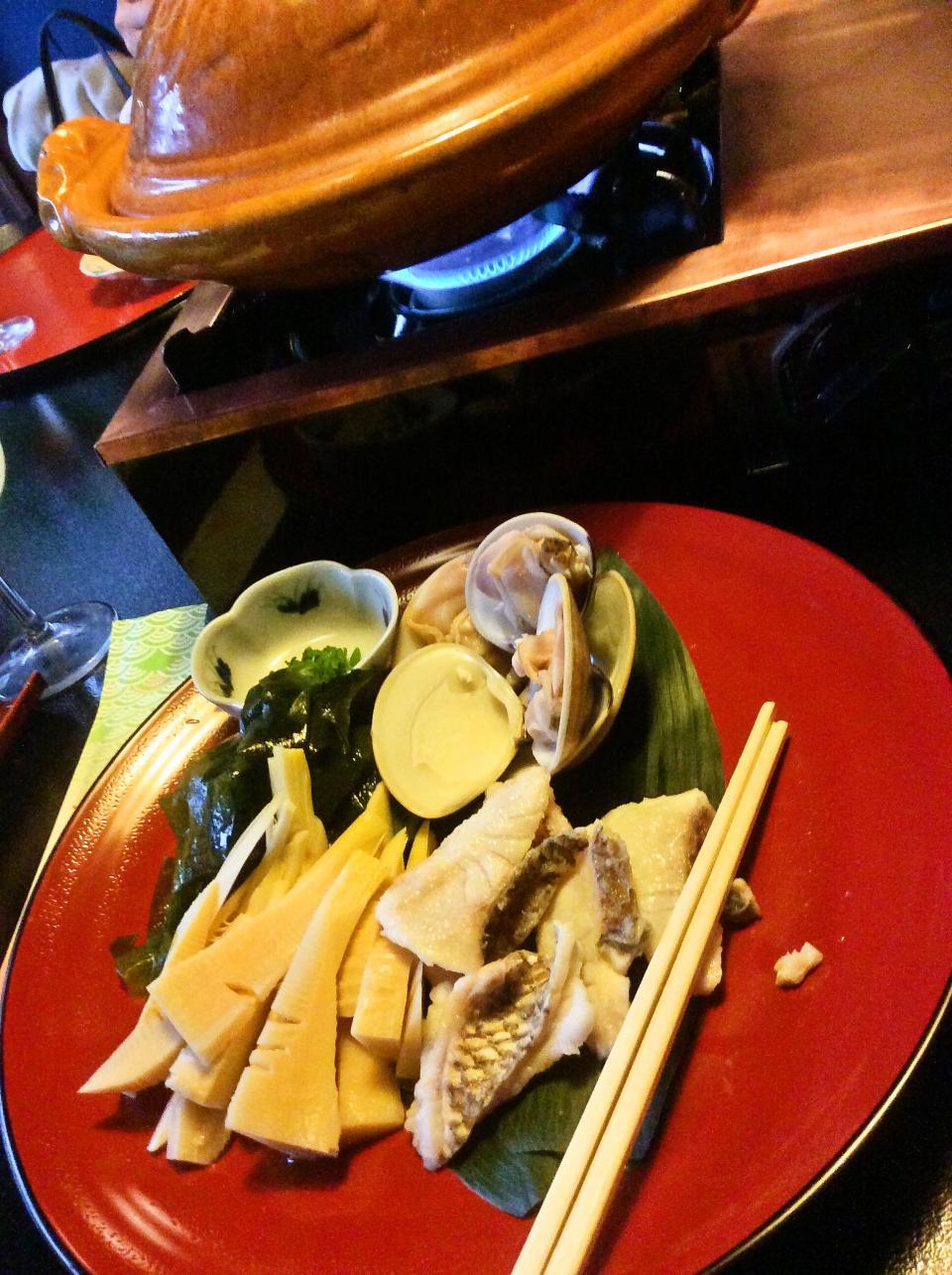 とうふ屋うかい 鷺沼店(春の魚介と若竹鍋コース)