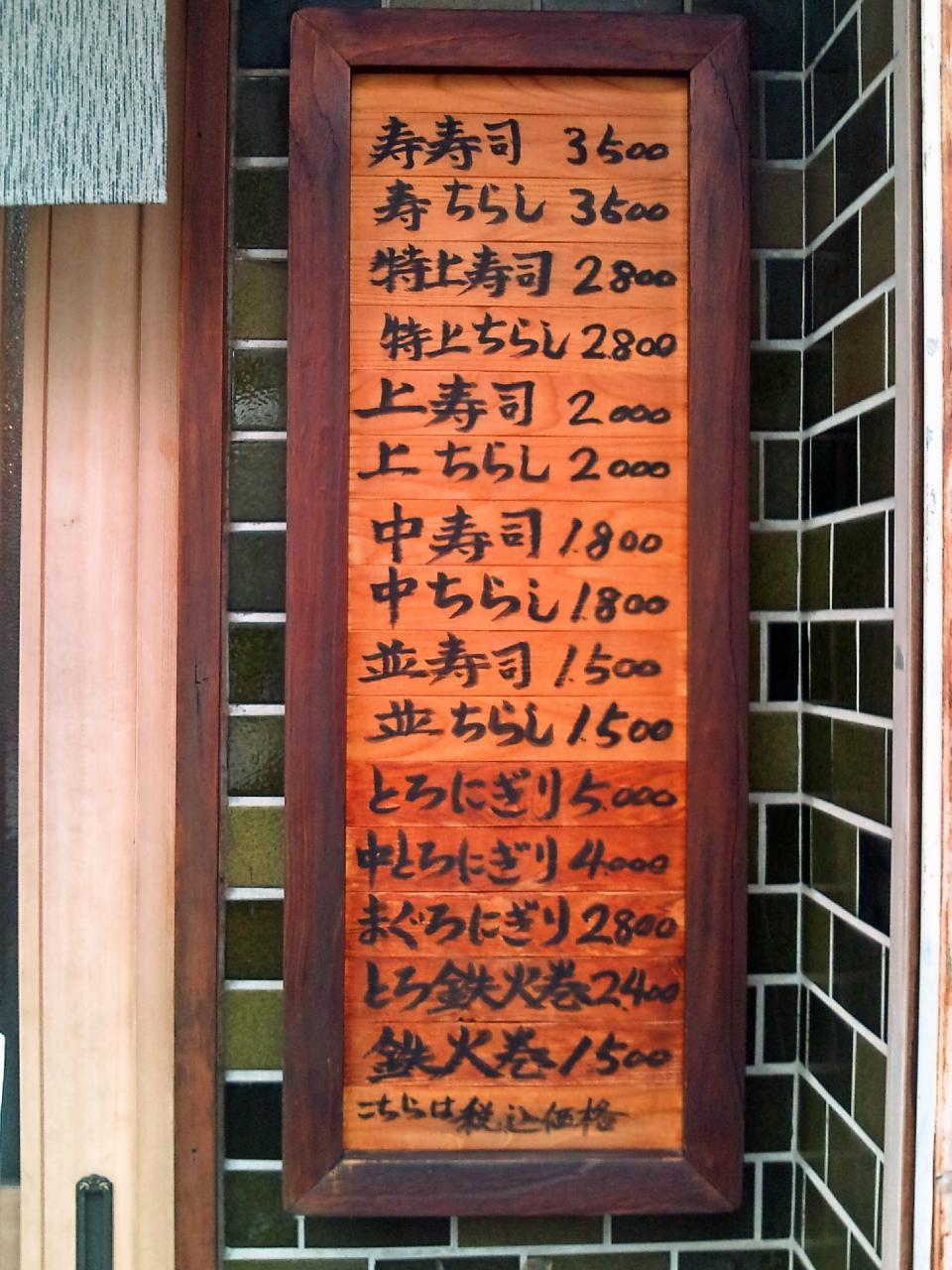 幸寿司(メニュー)