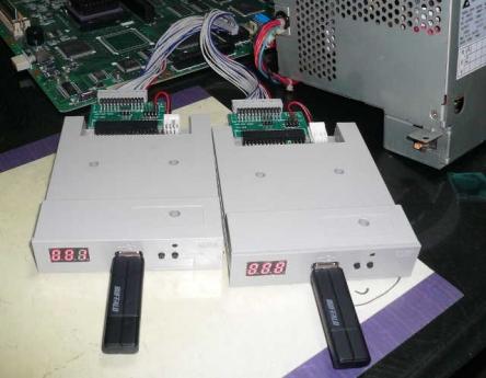 PC-9801BX2/U2 + TRI-002 + GOTEK SFR1M44-U100K