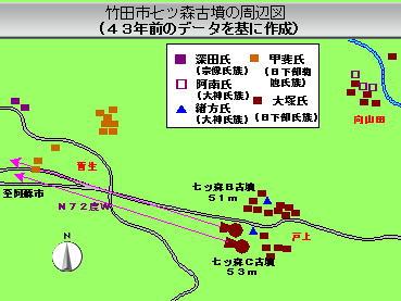 121話竹田市七ツ森古墳の周辺図