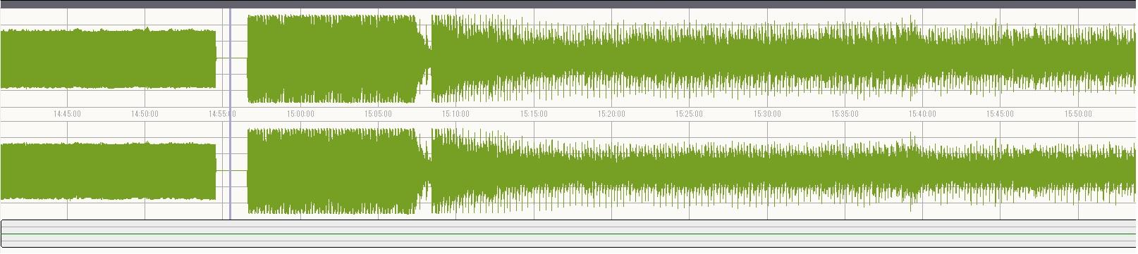 オート マニュアル録音波形