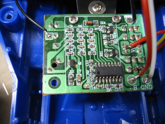 トイザらスのラジコンカー_PT8A977(送信機新調)受信側基板1