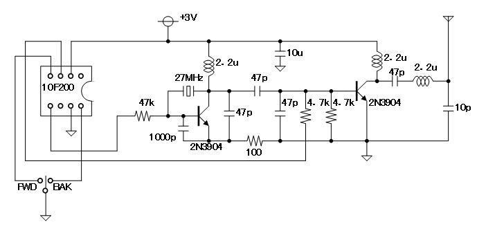 トイザらスのラジコンカー_PT8A977回路図