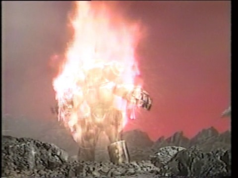 炎上するキングジョーグ