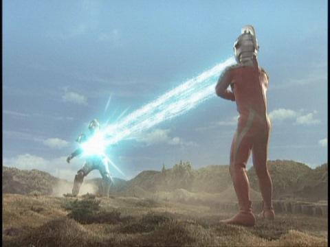 ワイドショットでガルト星人を撃破