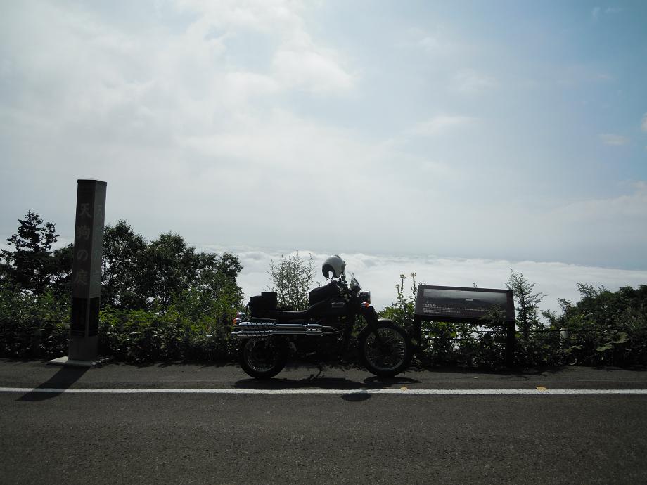 福島2 磐梯吾妻2 雲海とバイク