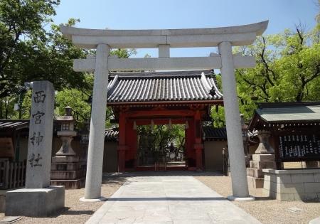 12:15 西宮神社 表大門(赤門)
